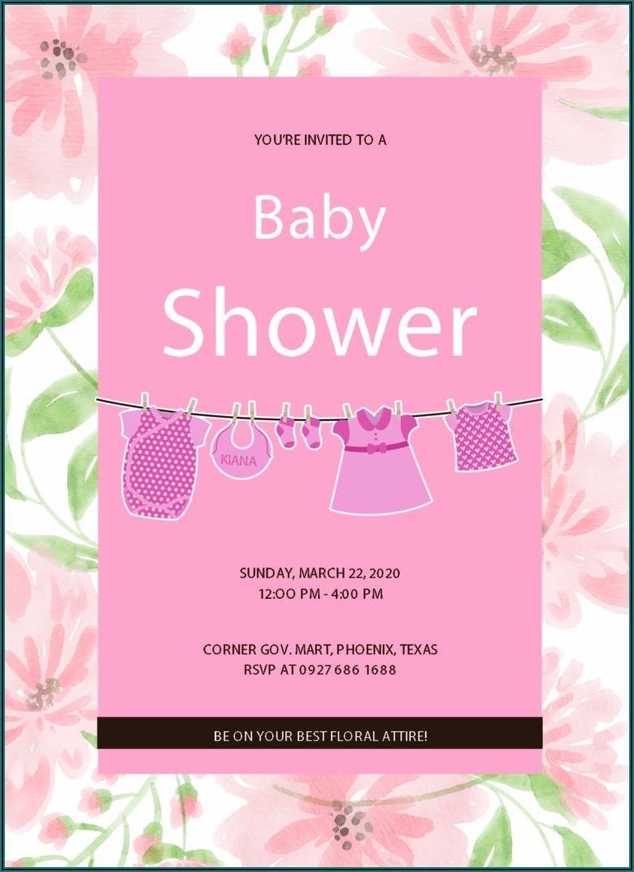Free Baby Shower Invitations Templates Editable