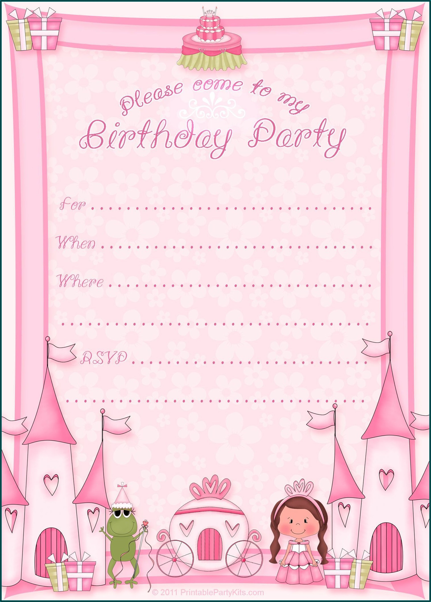 Free Birthday Card Invitations Online