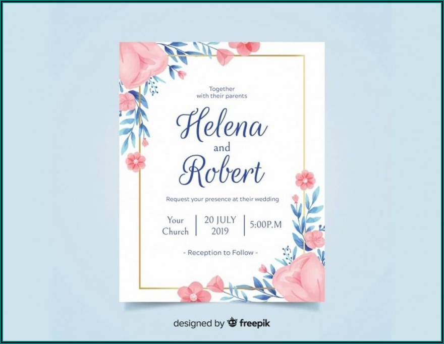 Free Birthday Invitation Card Template For Word