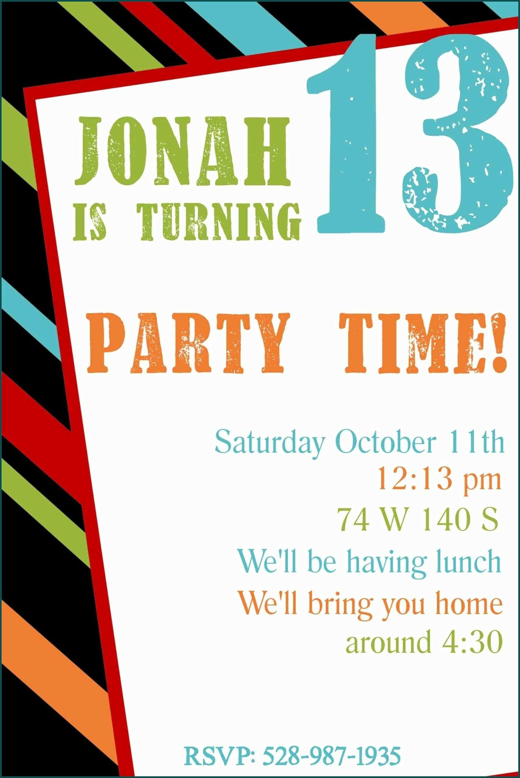 Free Birthday Invitations Printable