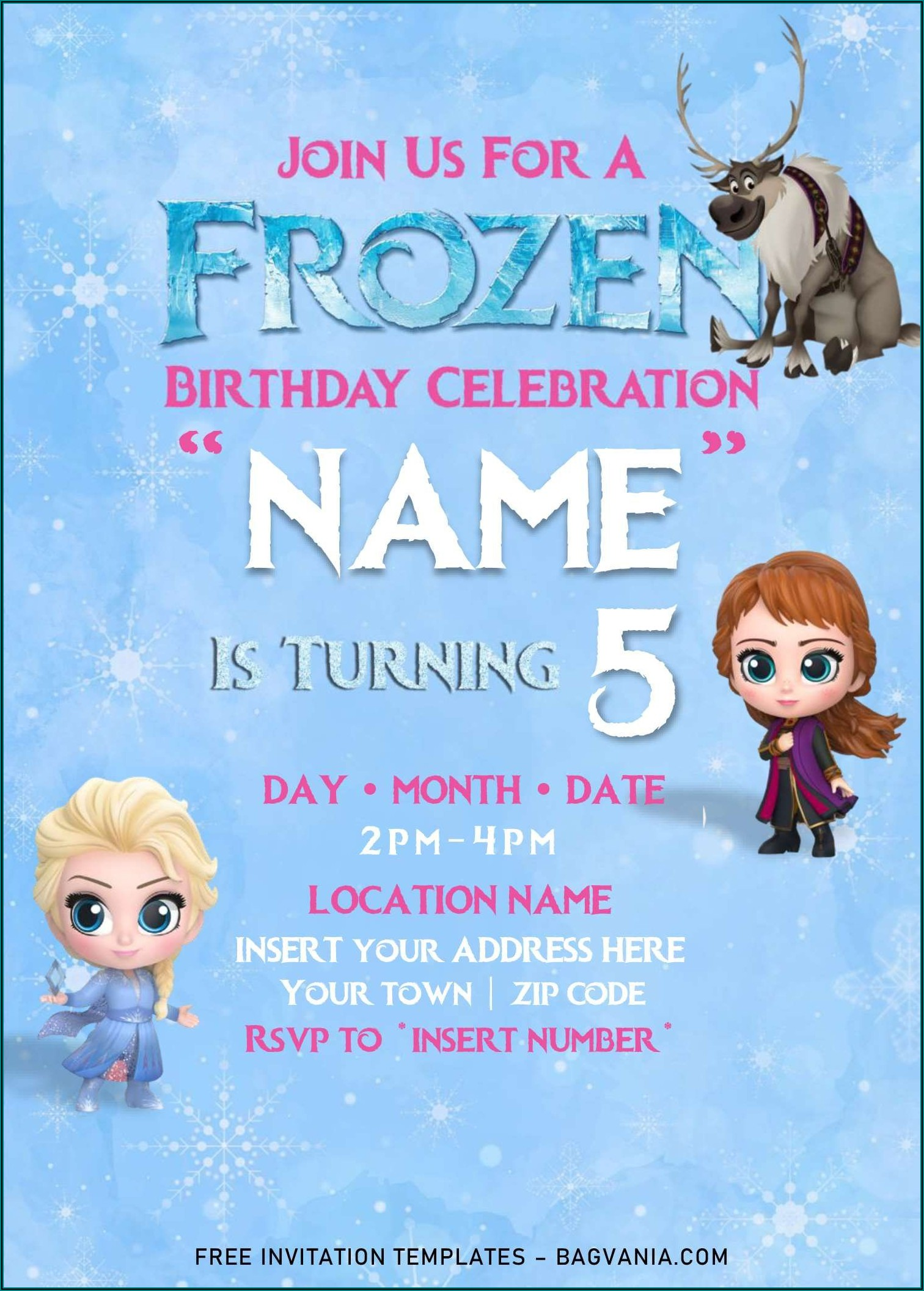 Free Birthday Invitations Templates For Word