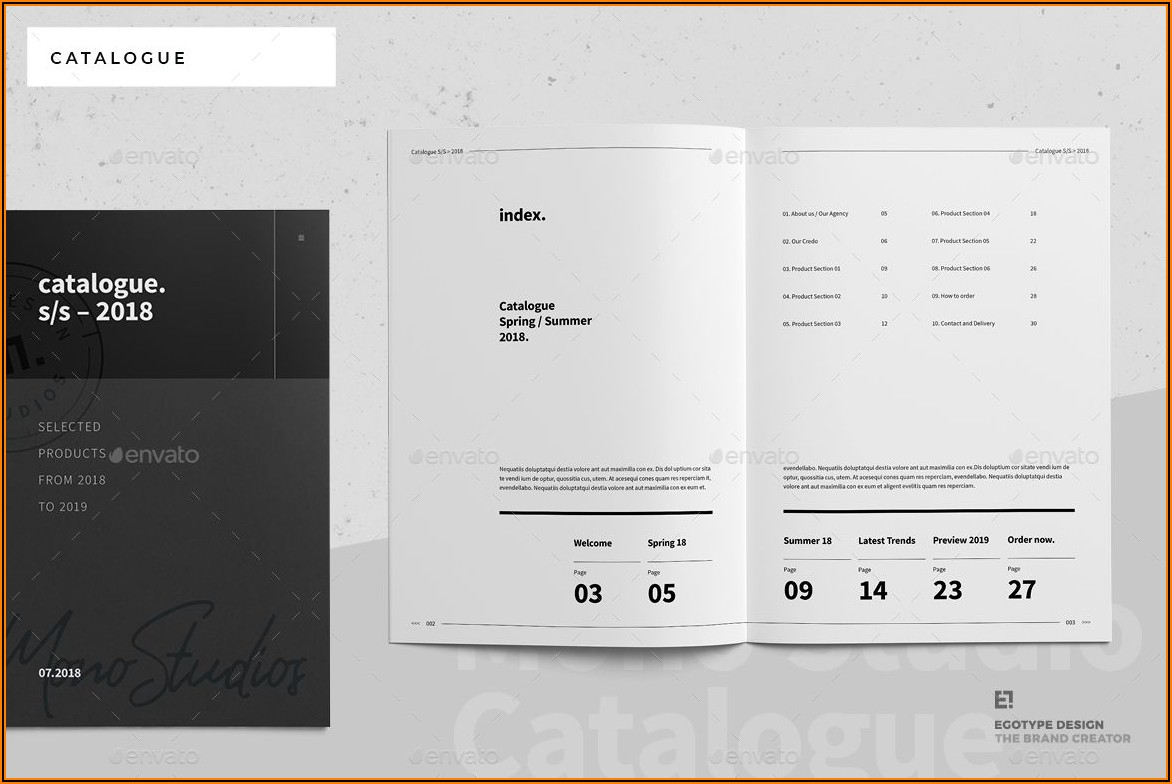 Free Business Catalogue Design Templates