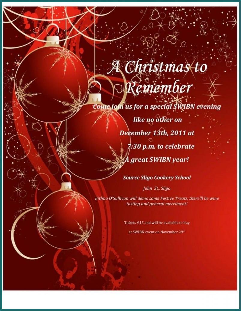 Free Christmas Invitation Templates Download