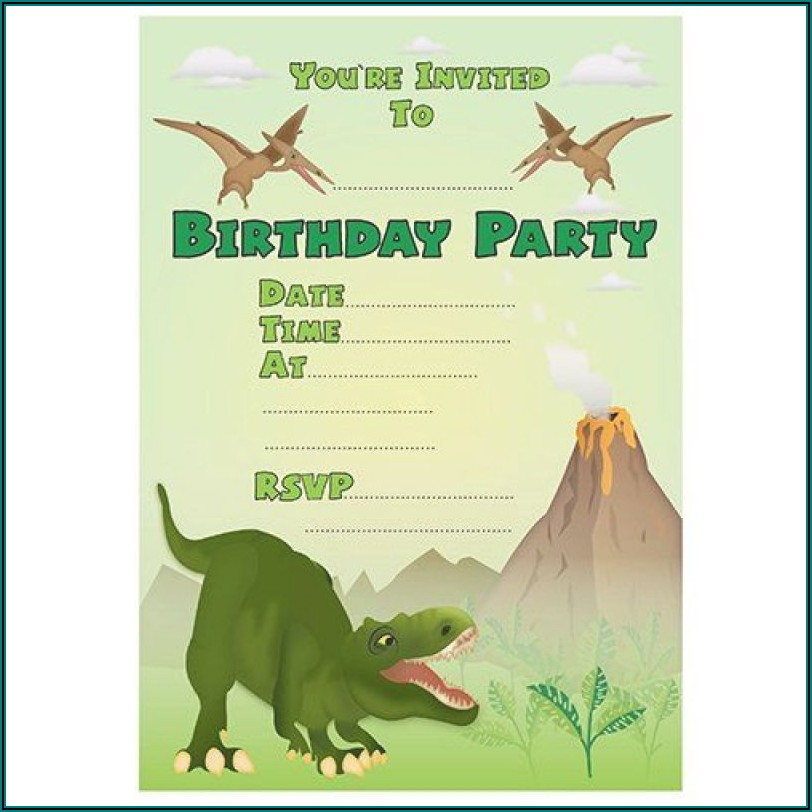 Free Dinosaur Birthday Invitations Printables