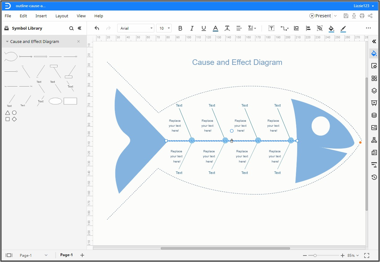Free Editable Fishbone Diagram Template Word