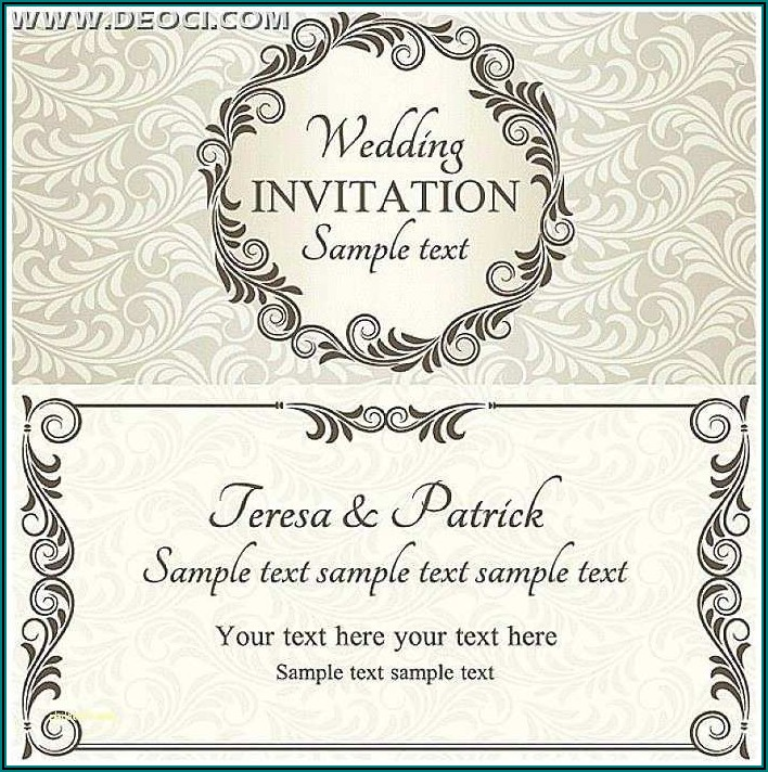 Free Invitation Template Editable