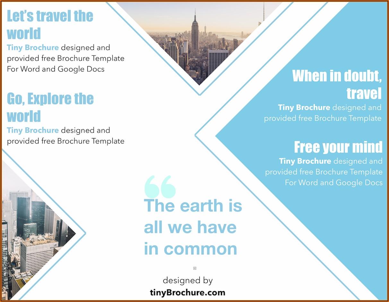 Free Medical Brochure Template Word