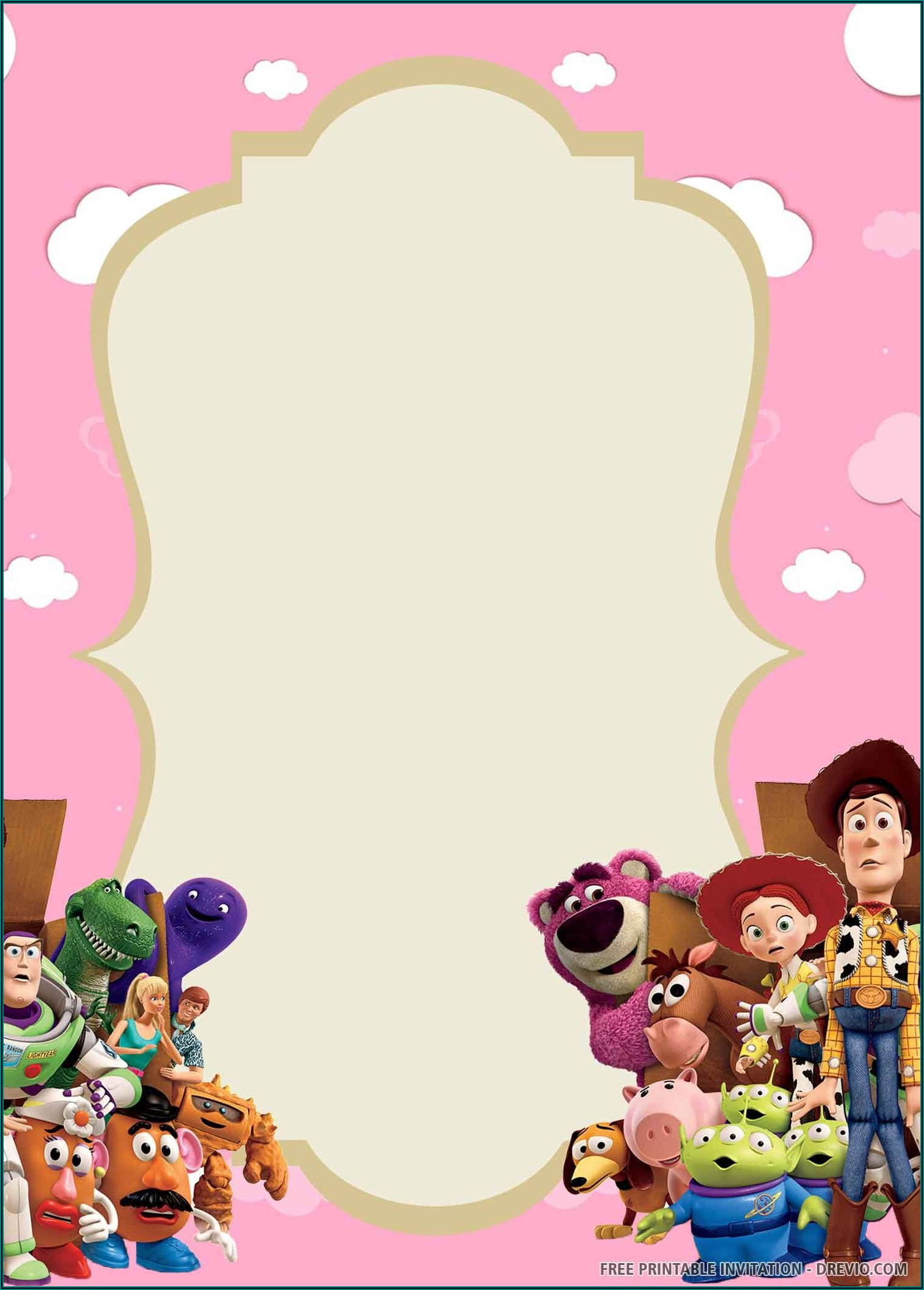 Free Printable Birthday Invitations Toy Story
