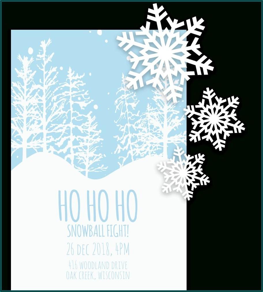 Free Printable Christmas Invitation Templates For Word