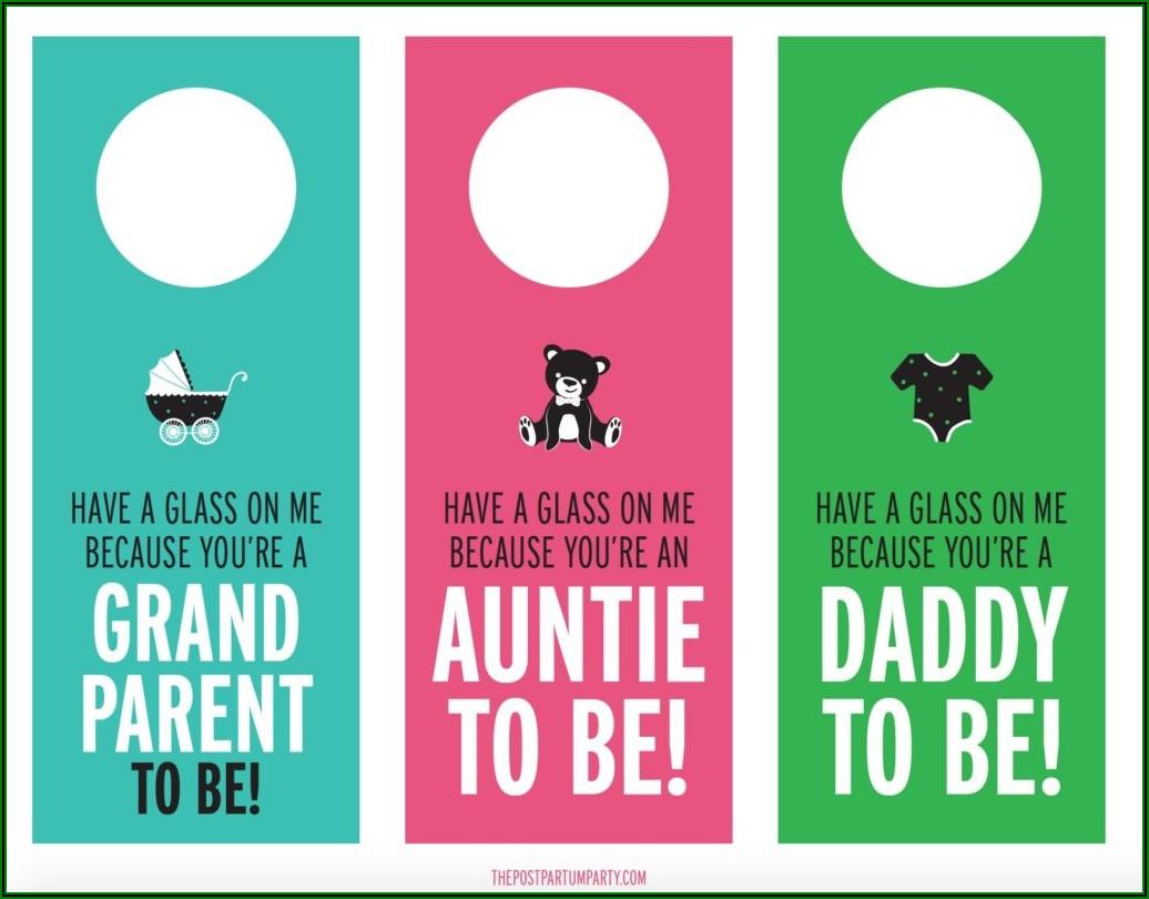 Free Printable Pregnancy Announcement