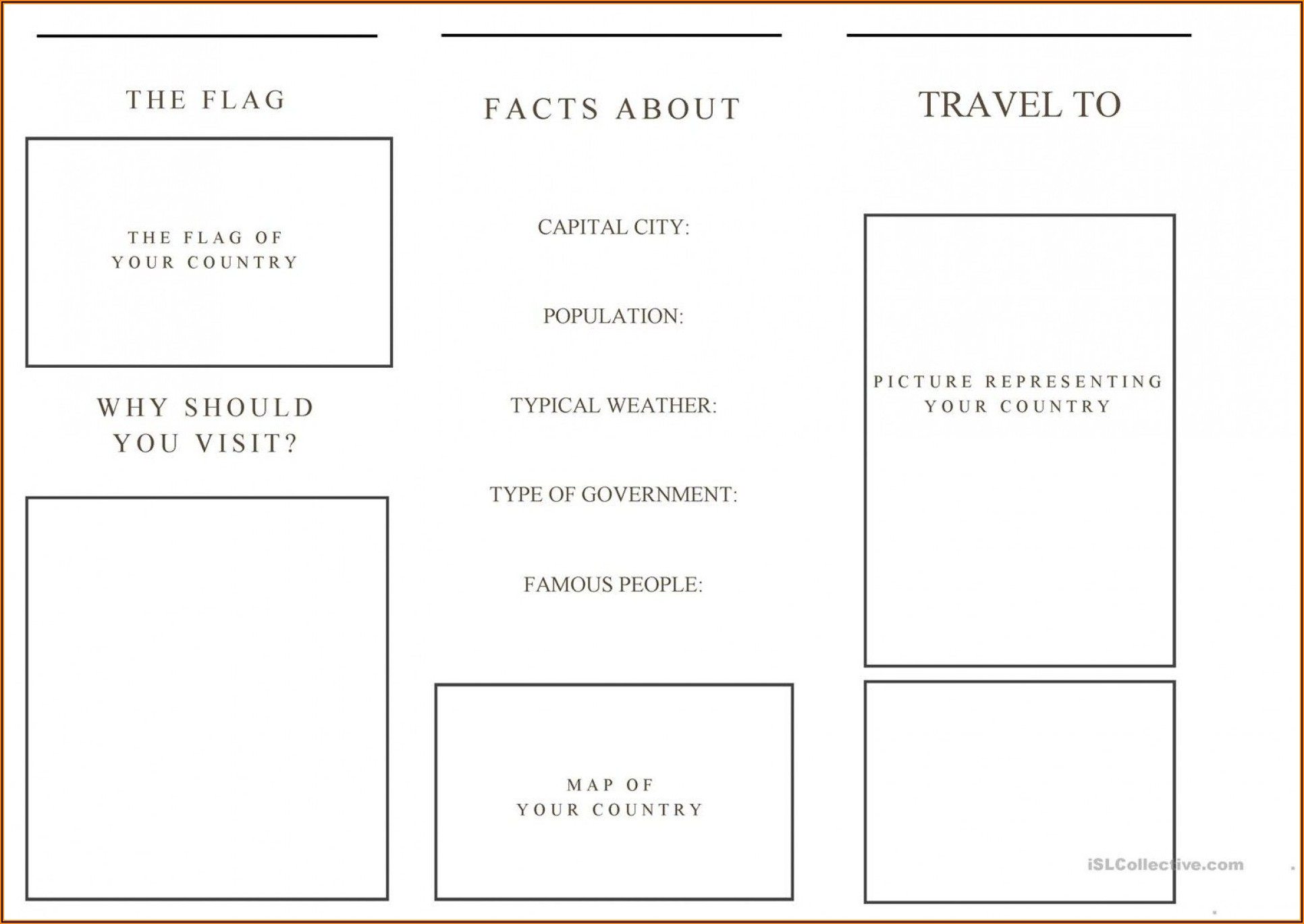 Free Travel Brochure Template For Students Pdf