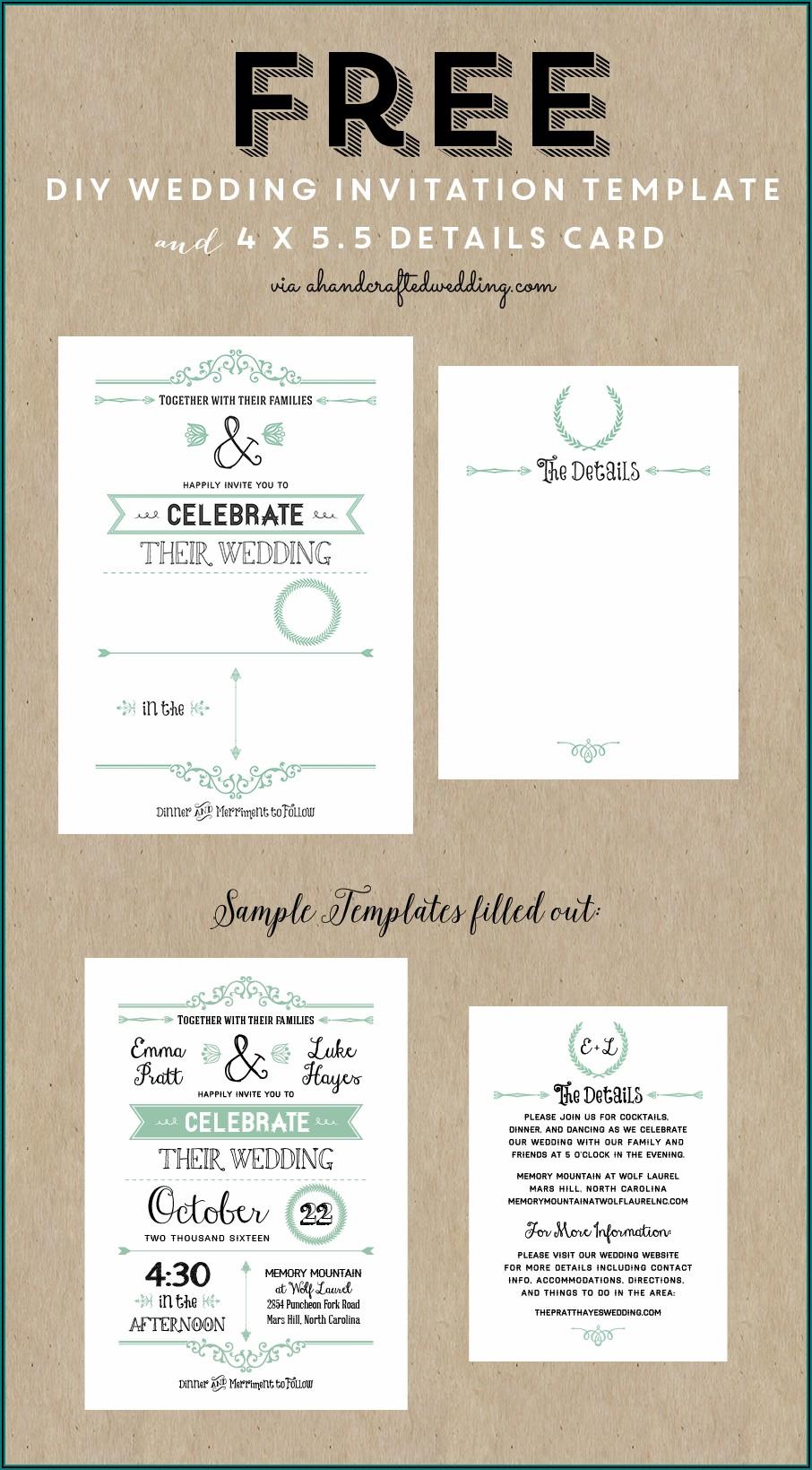 Free Wedding Invitation Templates Printable