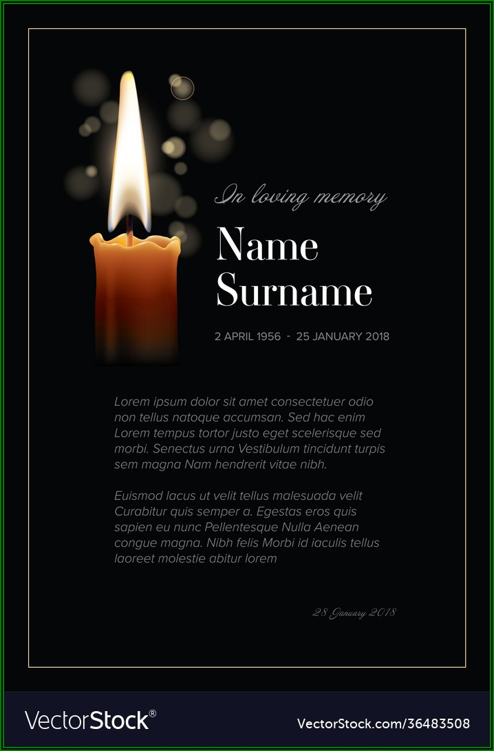 Funeral Notice Template Free
