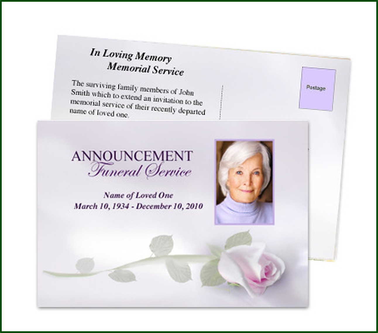Funeral Notice Template Uk