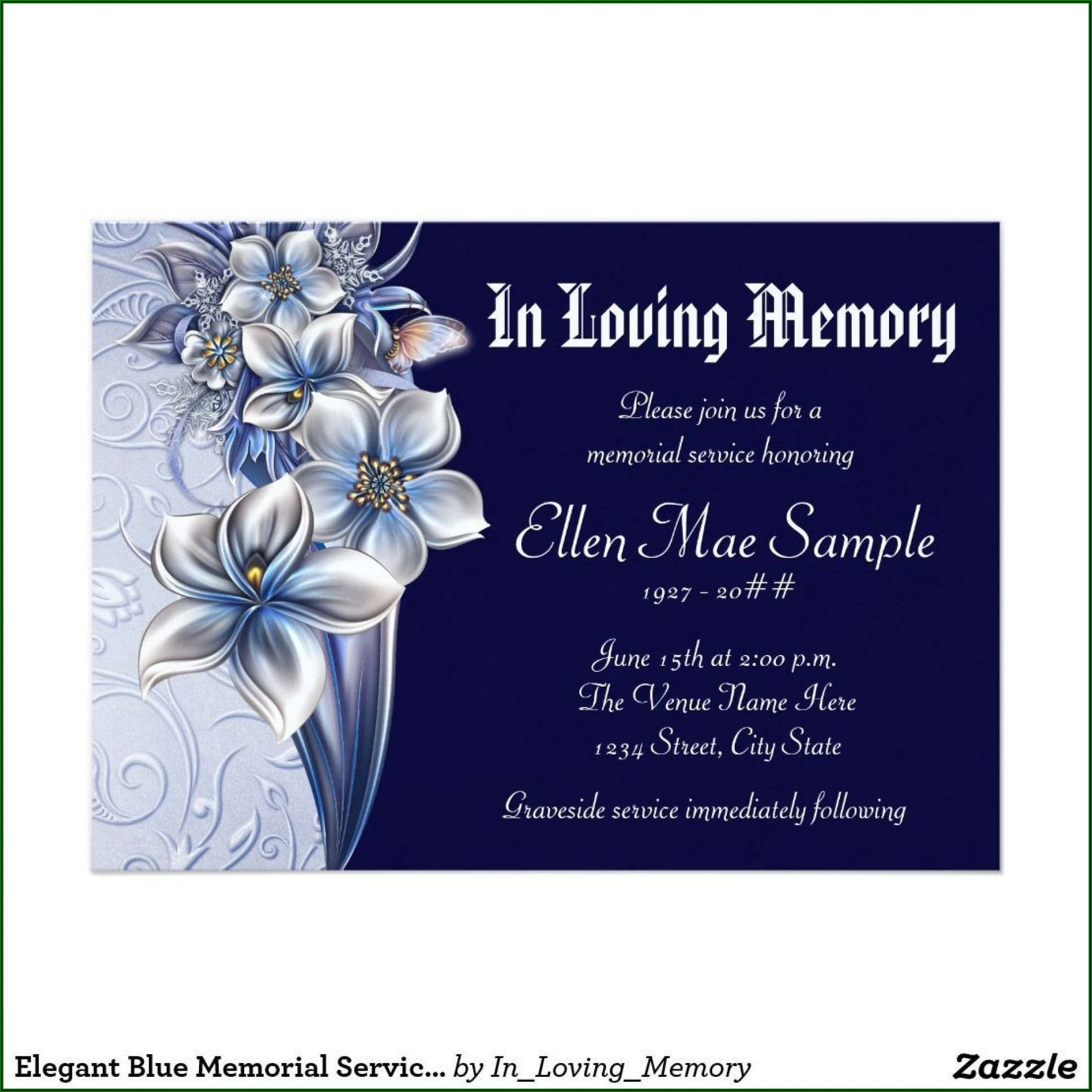 Funeral Services Announcement Samples