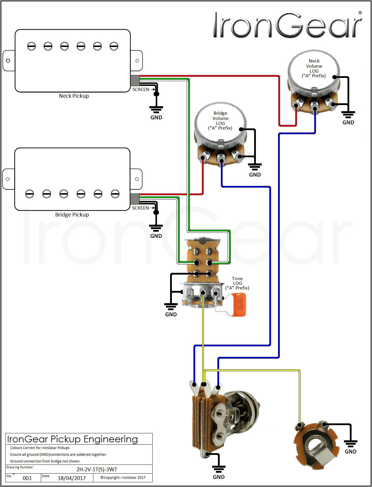 Guitar Wiring Diagrams 2 Pickups 3 Way Switch