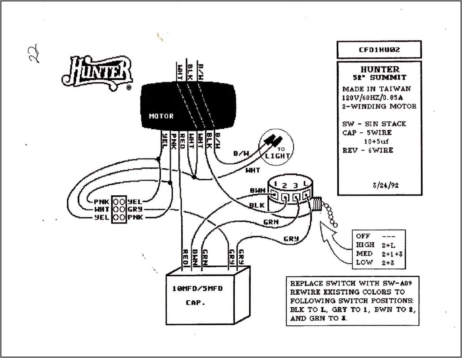 Hampton Bay 3 Speed Ceiling Fan Wiring Diagram