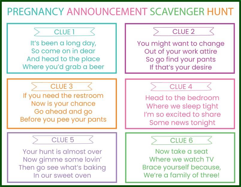 Hard Pregnancy Announcement Riddles