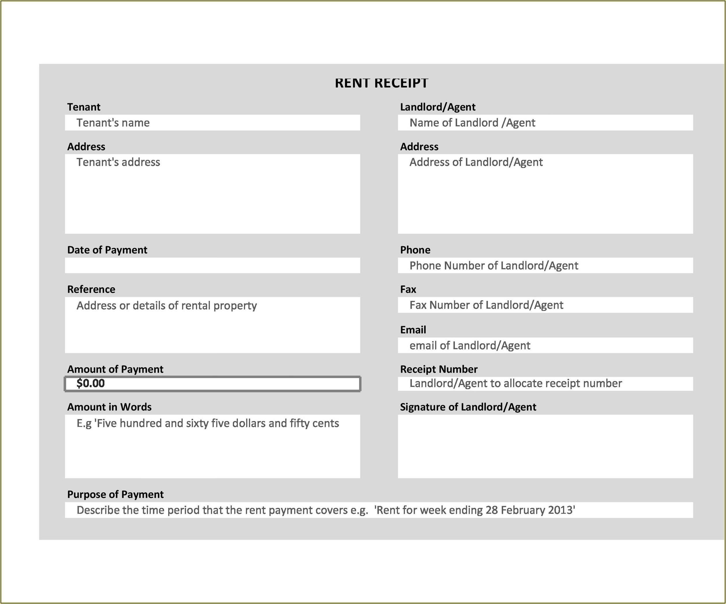 Hotel Bill Format In Word Download Free