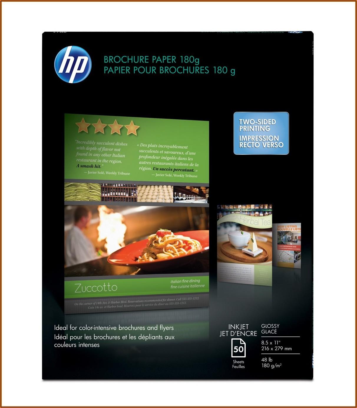 Hp Brochure Paper 180g Glossy 150 Sheets