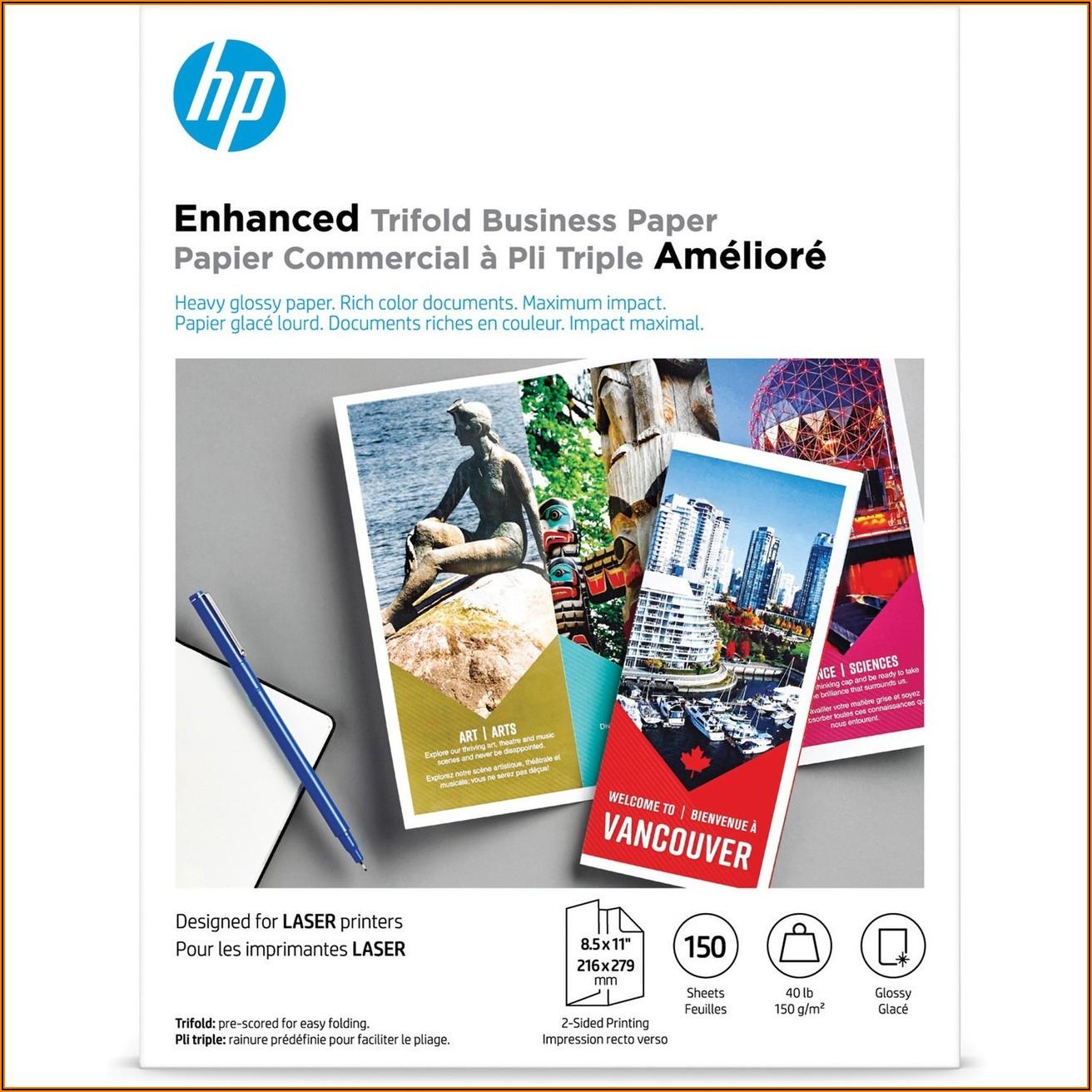Hp Brochure Paper For Inkjet Printer Glossy 11x17 150 Sheets