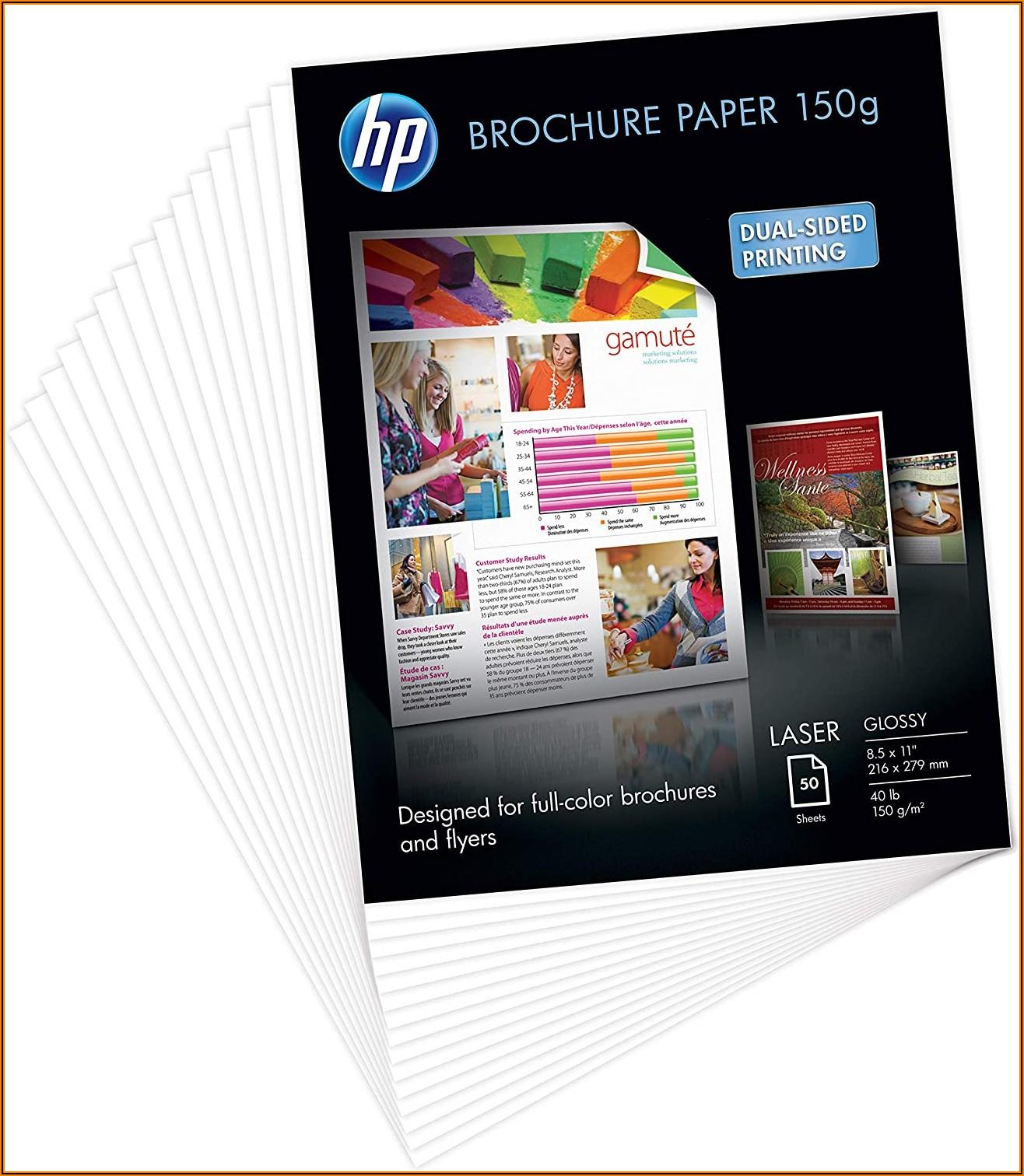 Hp Brochure Paper Glossy 8.5x11 150 Sheets
