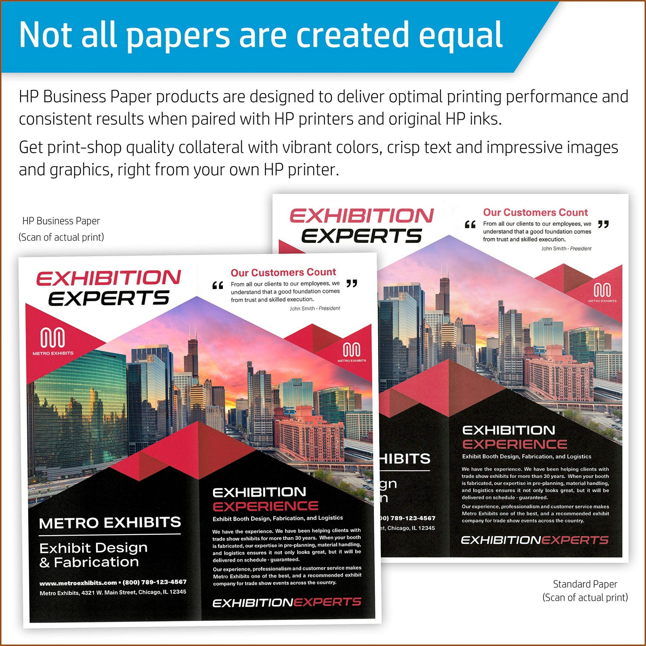 Hp Brochure Paper Glossy Inkjet