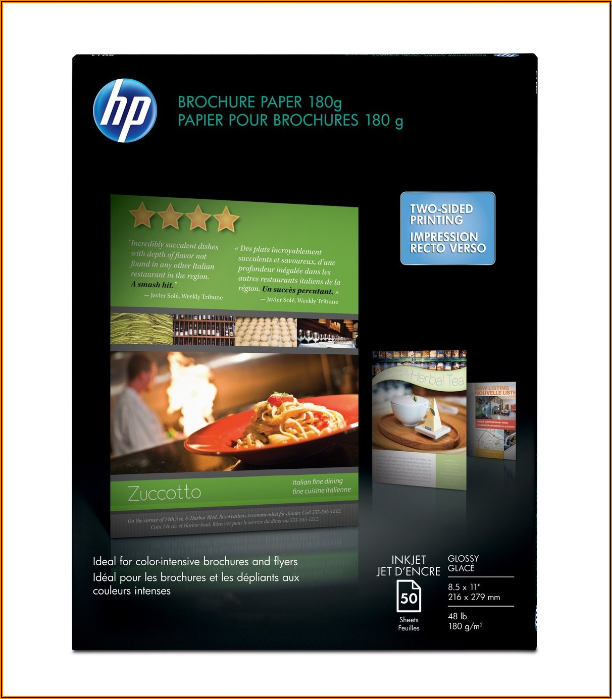 Hp Glossy Brochure Paper 8.5 X 11 50pack