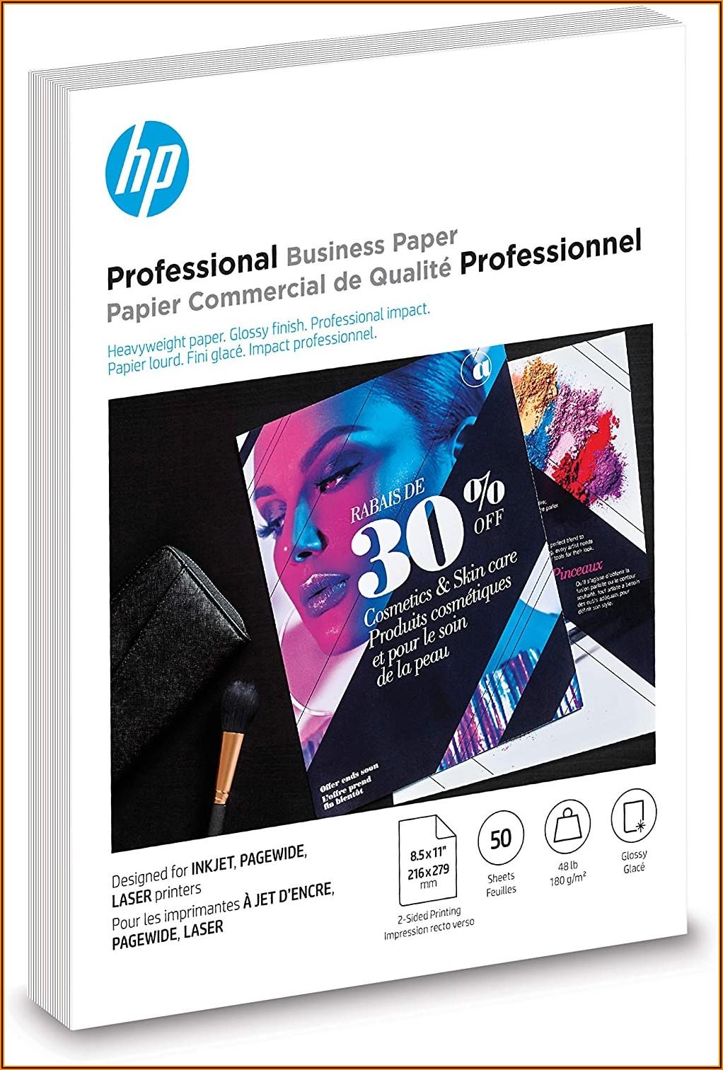Hp Glossy Brochure Paper