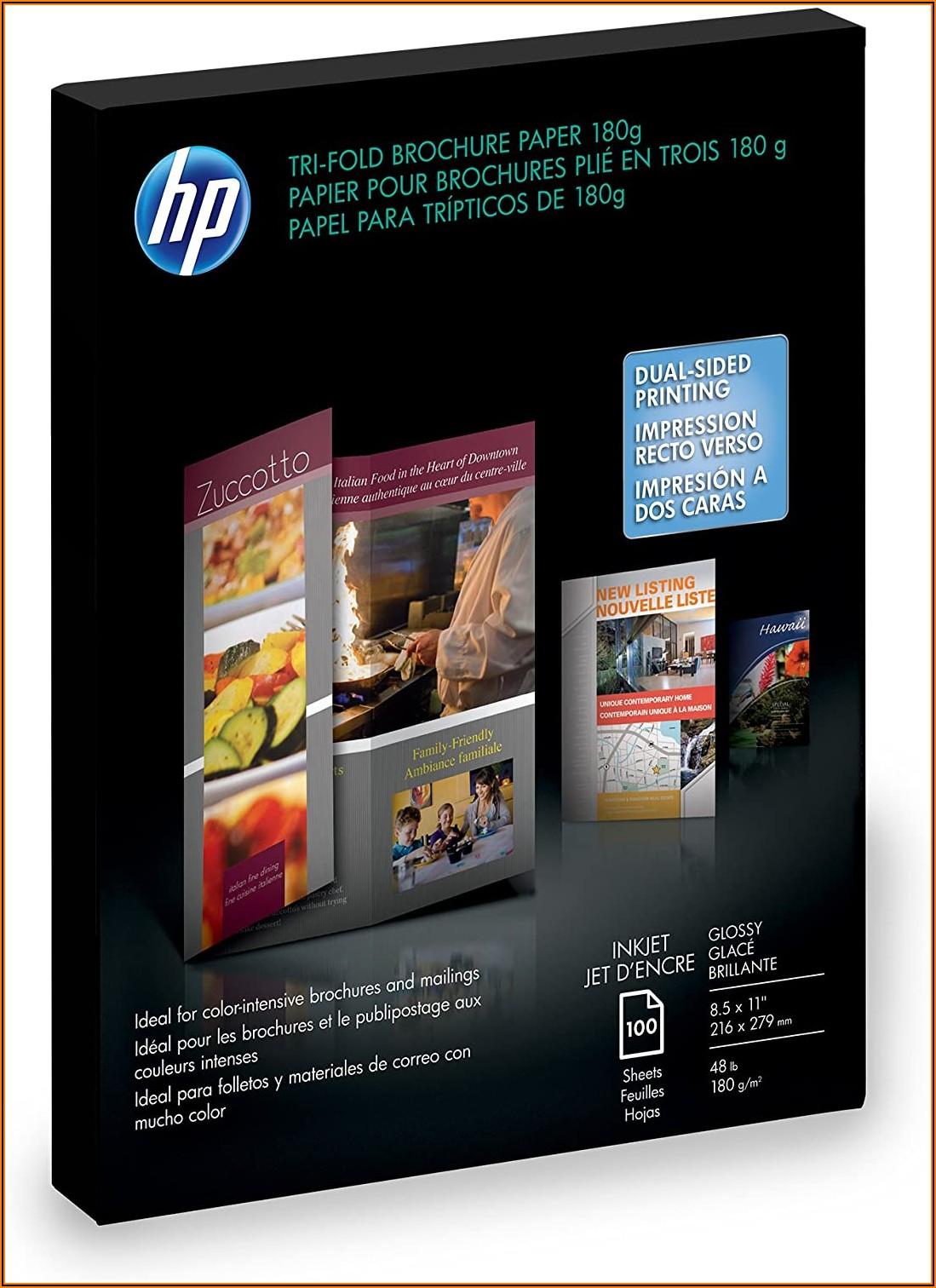 Hp Inkjet Glossy Tri Fold Brochure Paper