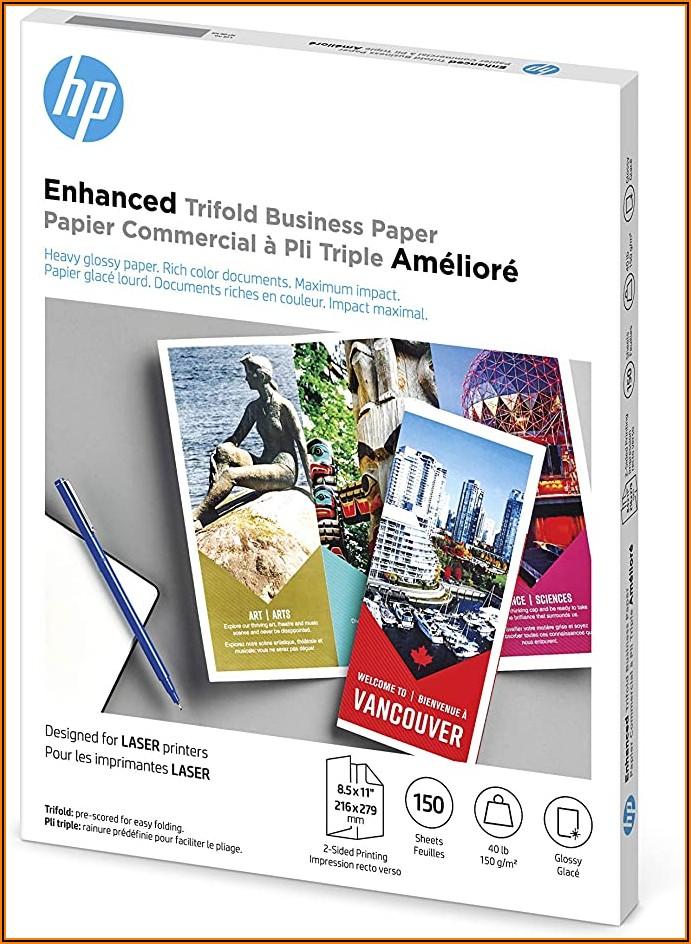 Hp Inkjet Tri Fold Brochure Paper Glossy Finish