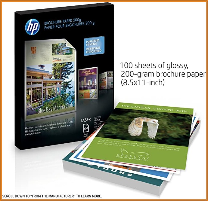 Hp Laser Glossy Brochure Paper 200g
