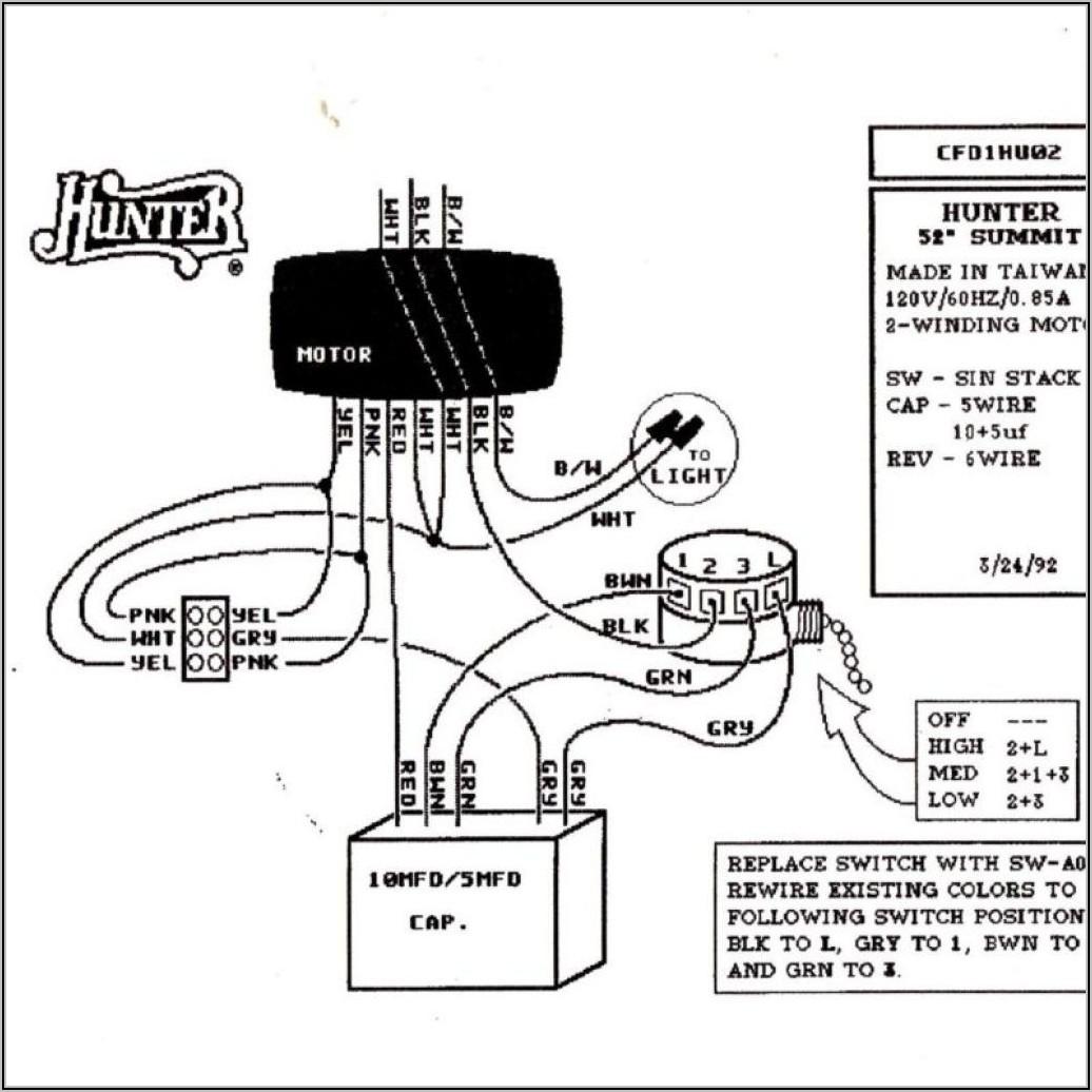 Hunter Ceiling Fan Wiring Diagram Light