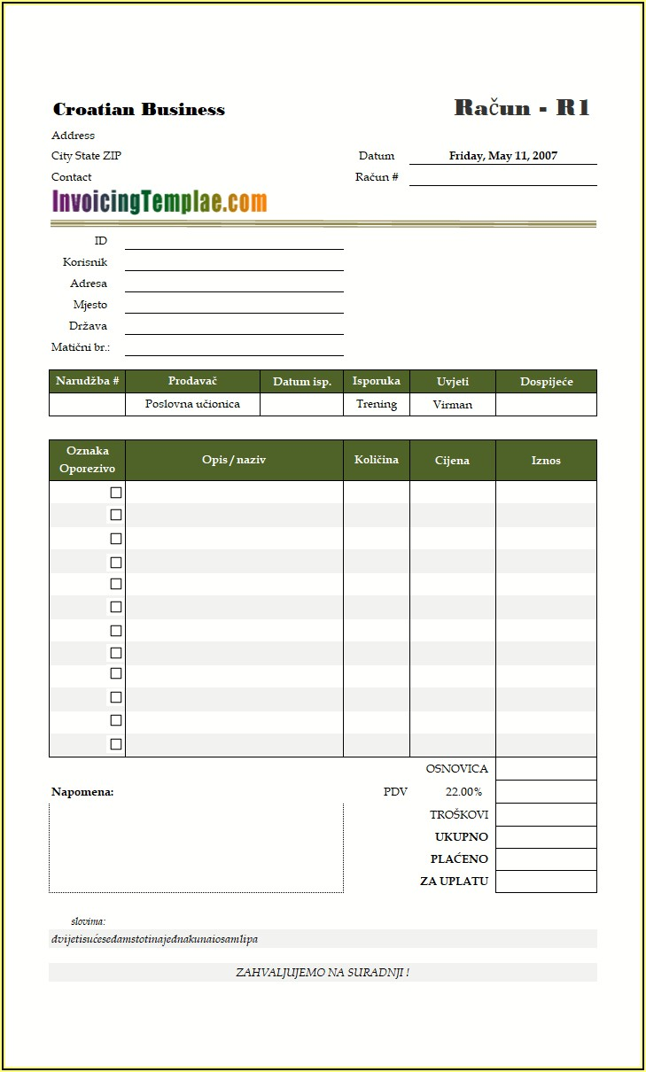 Independent Contractor Invoice Template South Africa