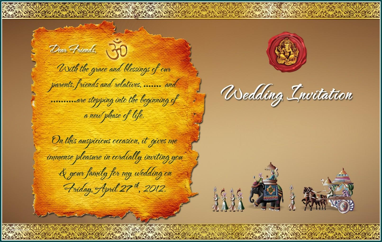 Indian Wedding Invitation Templates Free Download