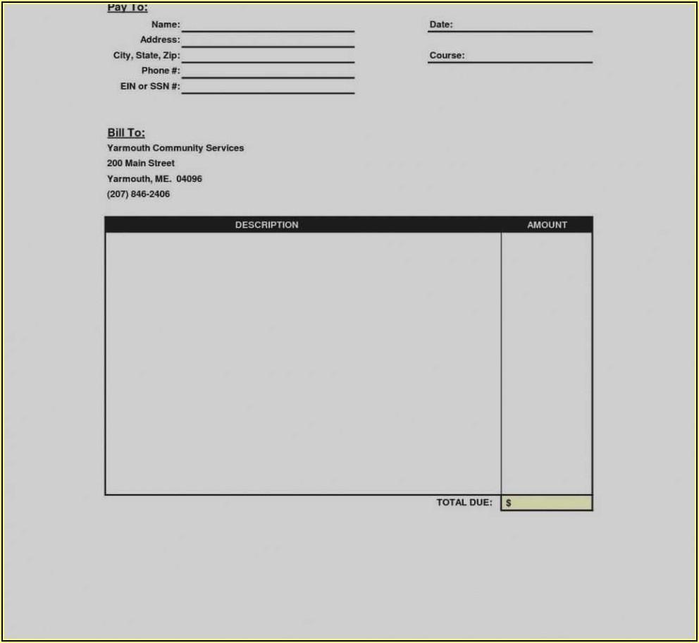 Invoice Template Free Uk Printable