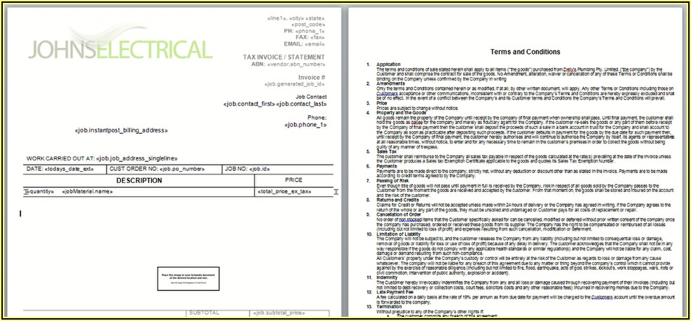 Invoice Terms And Conditions Wording