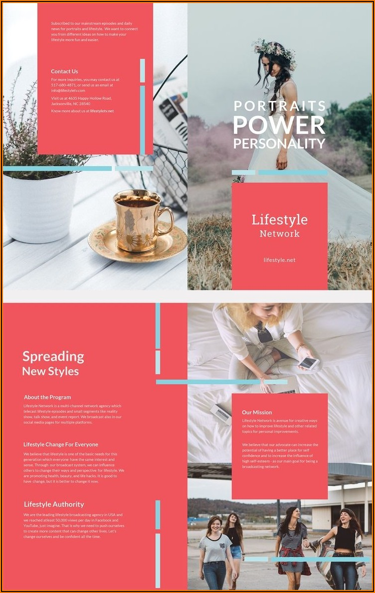 Mac Pages Brochure Template Free