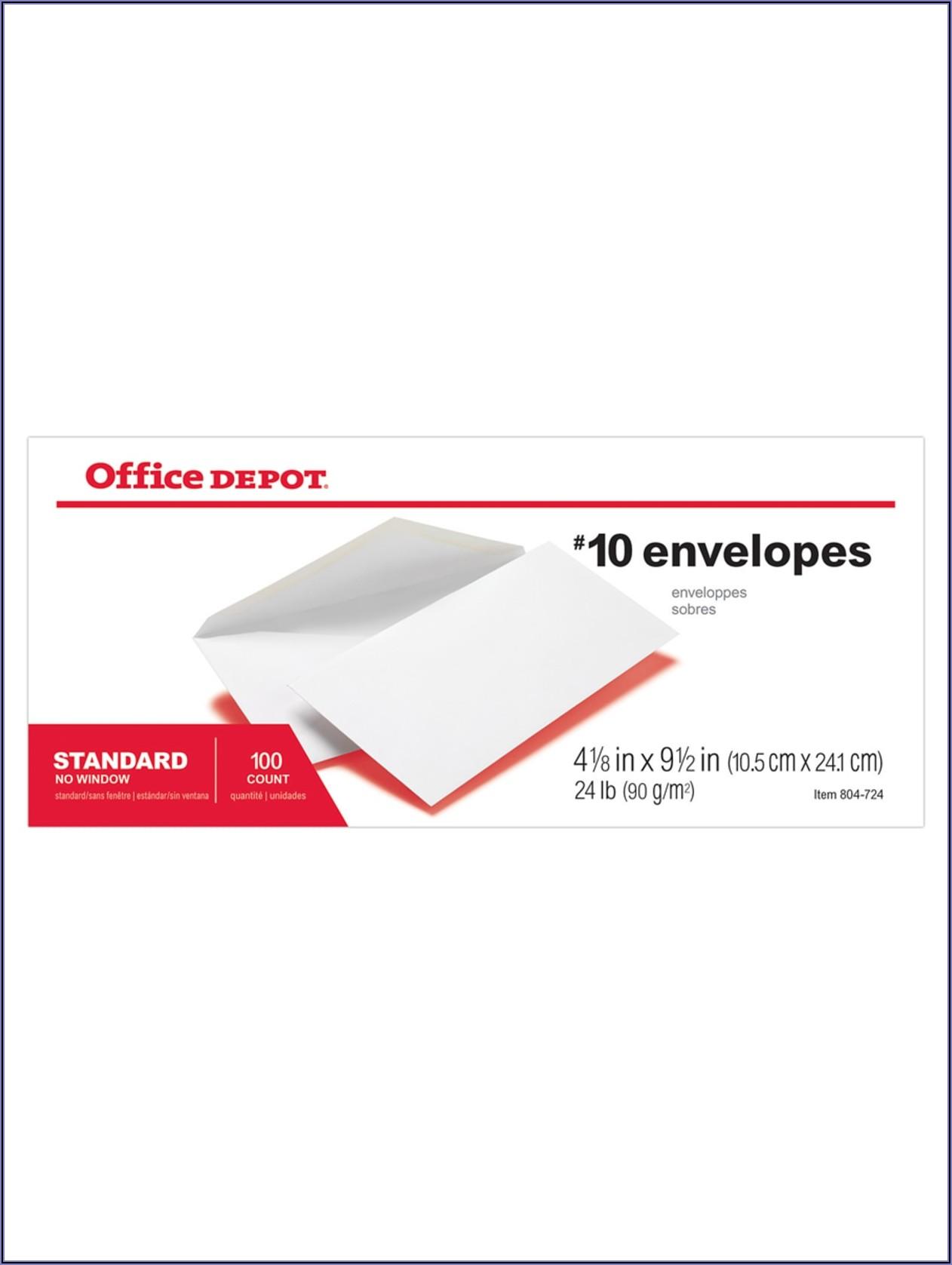 Office Depot Envelopes #10