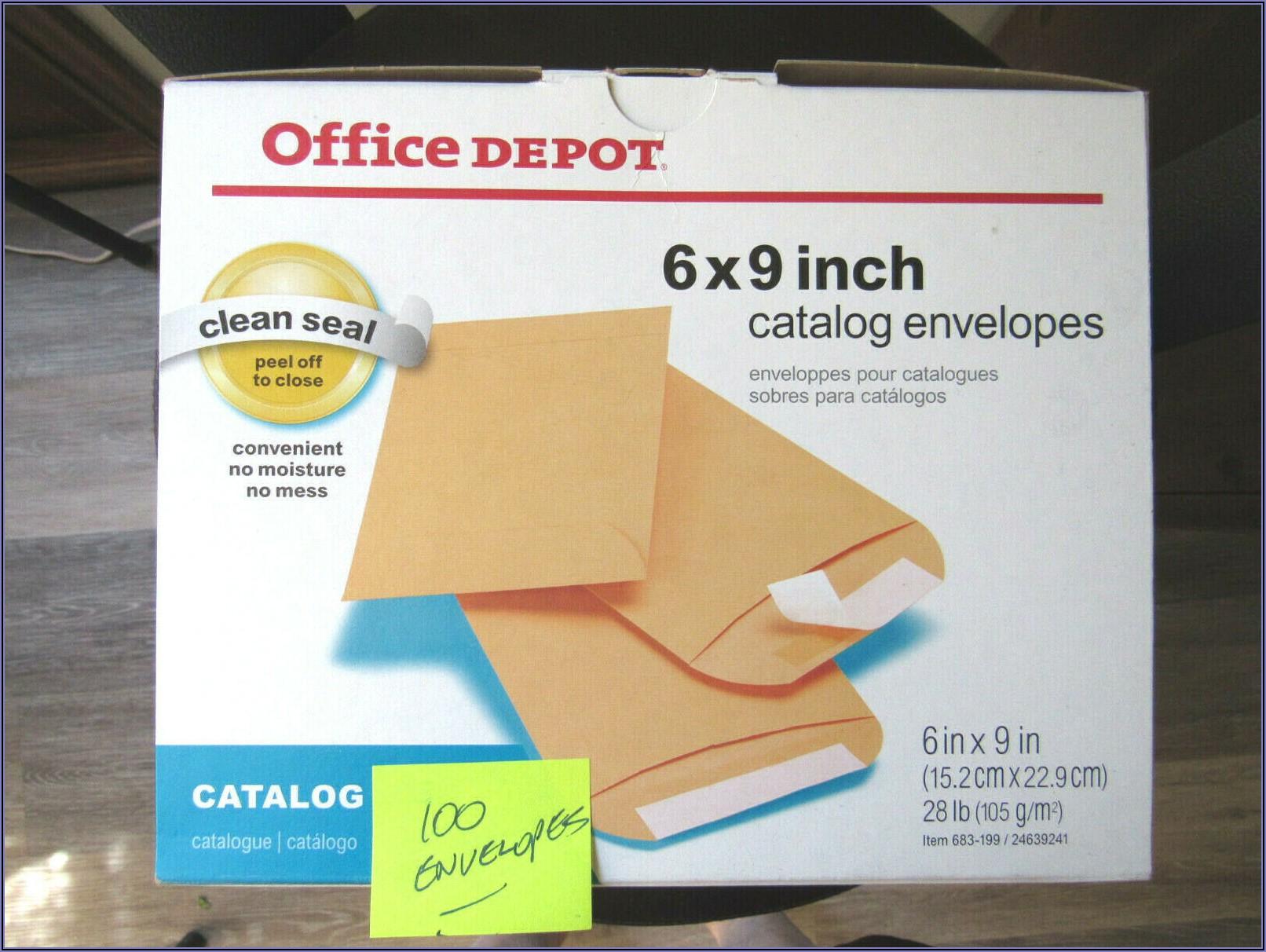 Office Depot Envelopes 6x9