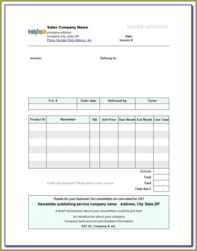 Open Office Invoice Template Uk