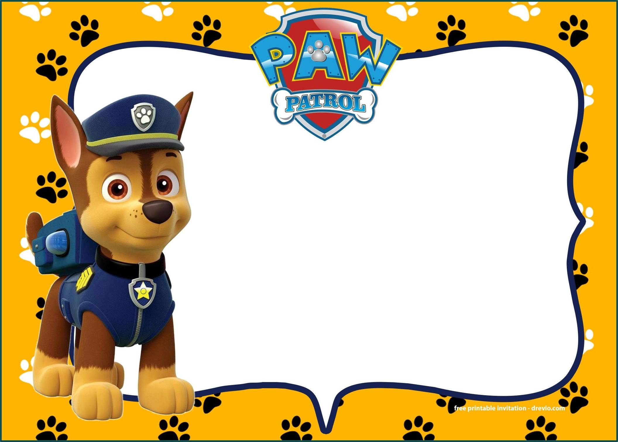 Paw Patrol Birthday Invitations Ideas