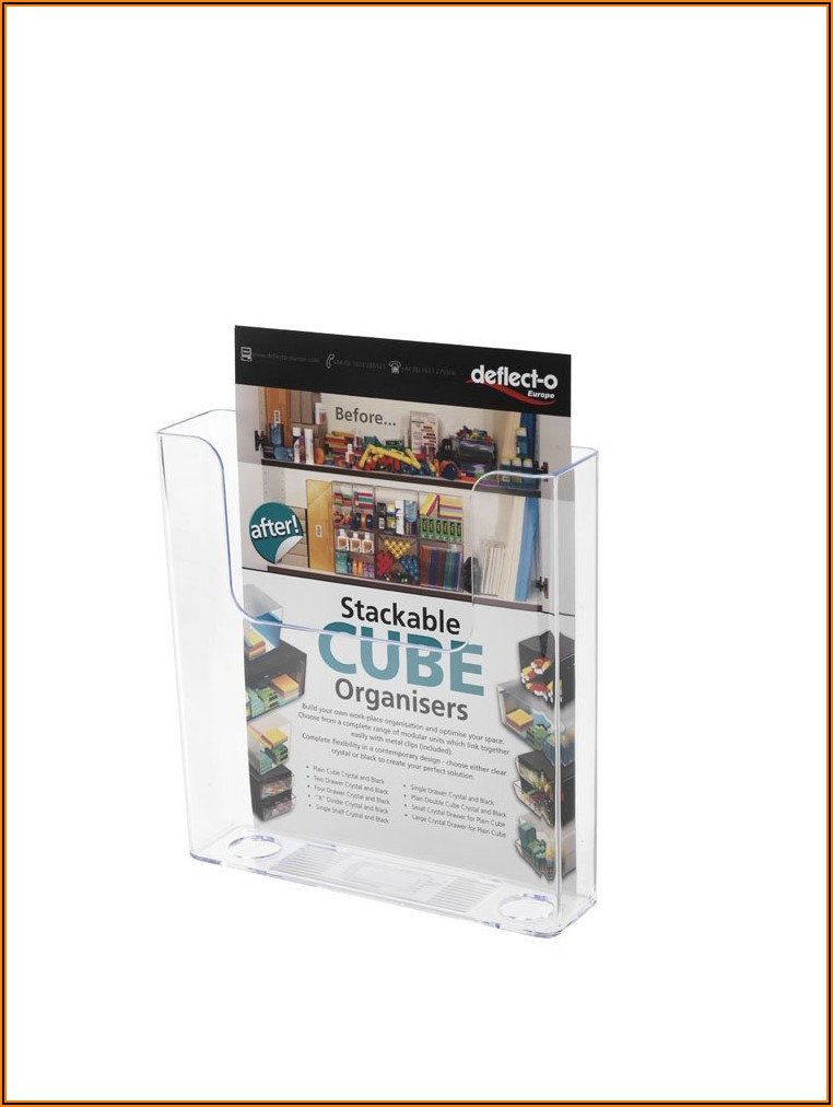 Perspex Leaflet Holders Wall Mounted