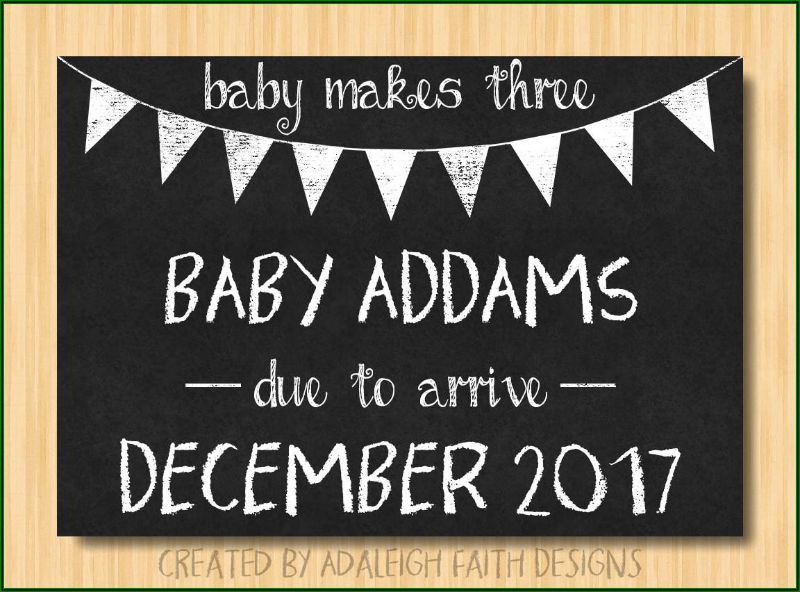 Pregnancy Announcement Template Free