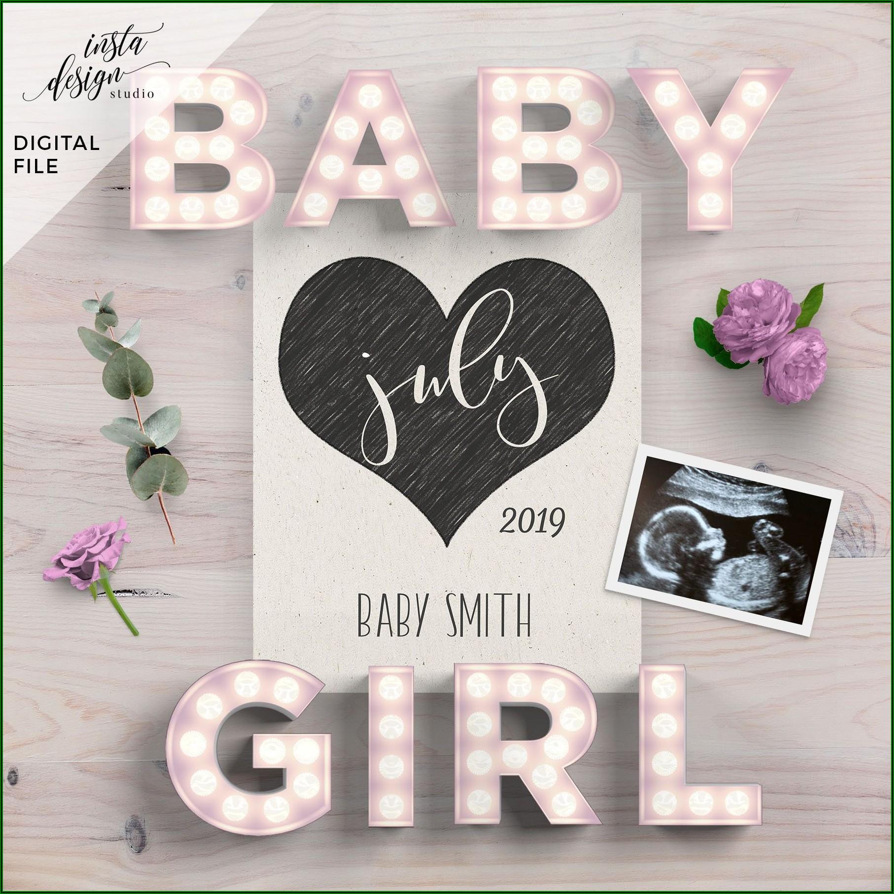 Printable Pregnancy Announcement Template