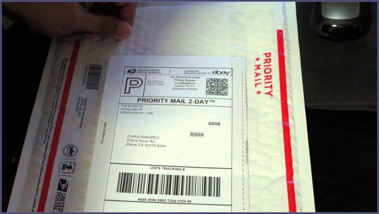 Priority Mail Flat Rate Envelope Postage Placement