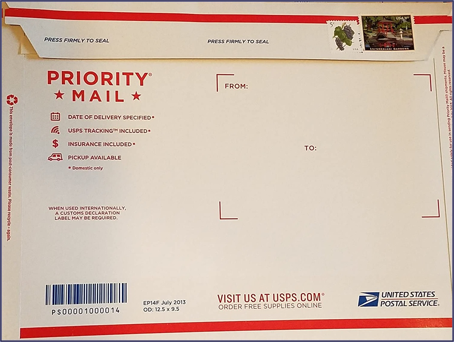 Priority Mail Mailing Envelope Cost