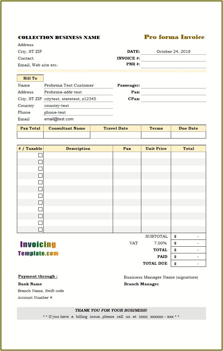 Proforma Invoice Meaning In Marathi