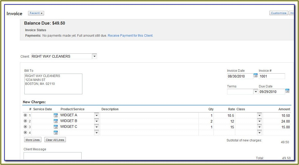 Quickbooks Online Invoice Template Change