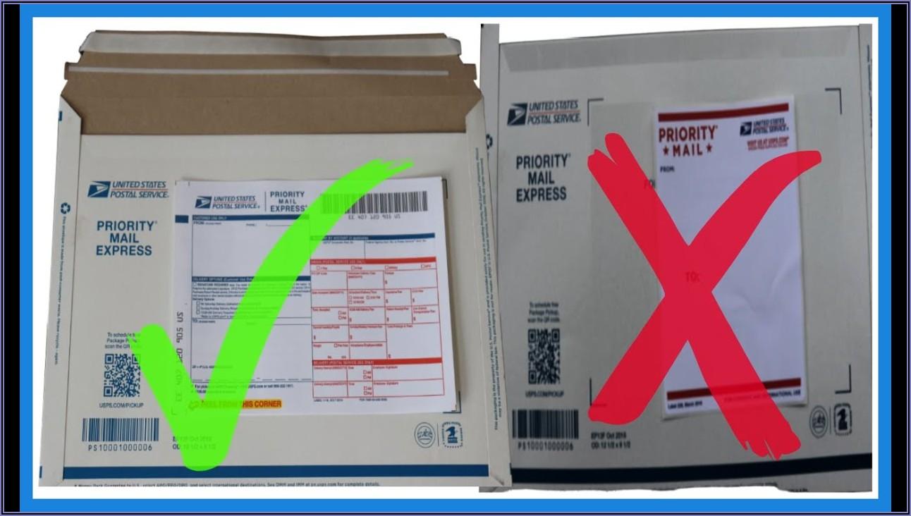 Self Addressed Prepaid Usps Priorityexpress Envelope